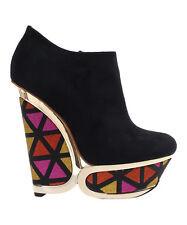 Privileged Black Rumble Wedge Bootie Size : 7.5, 8, 8.5 NWT