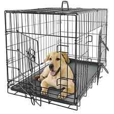 Travel Home Dog Crate Cage Folding Kennel Playpen Portable Heavy Duty 4 Size