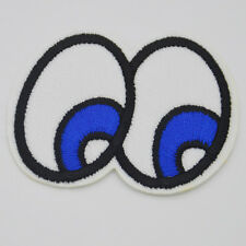 Cute cartoon eyes Embroidered Cloth Iron On Patch Sew Motif Applique badge