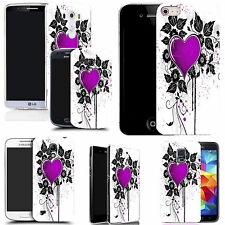 motif case cover for many Mobile phones - purple cupid heart