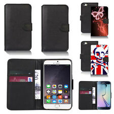 black pu leather wallet case cover for many mobiles design ref q631
