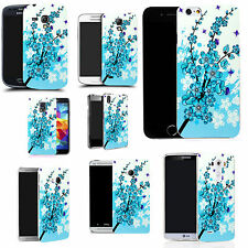 pictoral case cover for most Popular Mobile phones -  blue floral bee