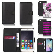 black pu leather wallet case cover for many mobiles design ref q475