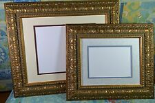 Picture Frame 8x10 or 11x14 Gold Ornate Picture Frame with Double Photo Mat