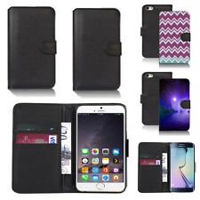 black pu leather wallet case cover for many mobiles design ref q413