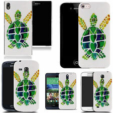 hard case cover for variety of mobiles - green turtle