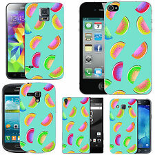 gel case cover for many mobiles - azure multi coloured melon silicone