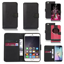 black pu leather wallet case cover for many mobiles design ref q476