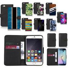 black pu leather wallet case cover for popular mobiles design ref a55
