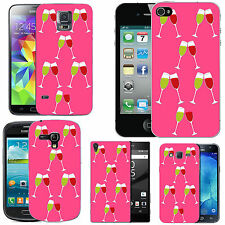 gel case cover for many mobiles - blush red white wine silicone