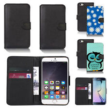 black pu leather wallet case cover for apple iphone models design ref q677
