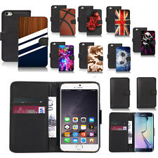 black pu leather wallet case cover for popular mobiles design ref a57