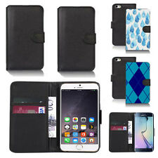 pu leather wallet case cover for many mobiles design ref q48