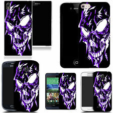 pictoral case cover for most Popular Mobile phones - purple robotic