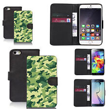 pu leather wallet case for many Mobile phones - swamp cammy