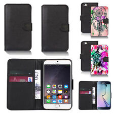 black pu leather wallet case cover for many mobiles design ref q713
