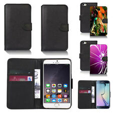 pu leather wallet case cover for many mobiles design ref q222