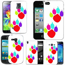 motif case cover for various Mobile phones - coloured paws