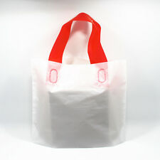 White Plastic Shopping Bag with Handles for T-shirt Boutique Store Supply
