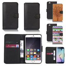 pu leather wallet case cover for apple iphone models design ref q103