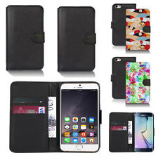 pu leather wallet case cover for many mobiles design ref q187