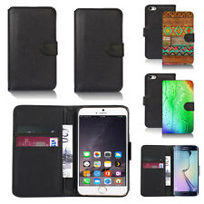 pu leather wallet case cover for apple iphone models design ref q107