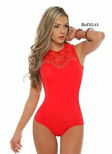 Women Sexy Colombian Slimmer Tummy Control Dressy Bodysuit Thong Top Blouse 6141