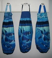 Orca's Killer Whales Ocean Plastic Grocery Bag Rag Sock Holder Organizer HCF&D