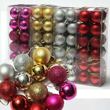 24Pcs Glitter Christmas 3CM Balls Baubles Xmas Tree Hanging Ornament  Decoration
