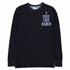 New Black Kanye West  I Feel Like Pablo Long Sleeve Outdoor Casual Men's T-shirt
