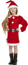 GIRLS CHILDREN MISS SANTA SUIT FATHER CHRISTMAS PARTY FANCY DRESS COSTUME 4-12
