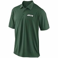 New NFL Nike Mens NY Jets Coach's Dri-Fit Jersey Collar Shirt Polo 537405 Sz S-L