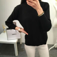 Casual Korean Round Neck Loose Knitted Pullover Sweater Women Lady Knitwear Coat