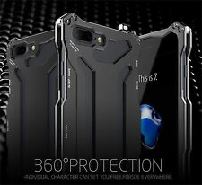 R-JUST Gundam Shockproof Aluminum Metal Glass Case Cover For iPhone 7 7 Plus #MS