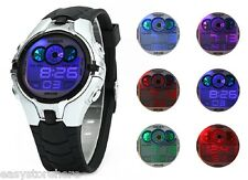 LED Lights Children Silicone Sports Digital Watch Date Week Alarm OHSEN AD0739