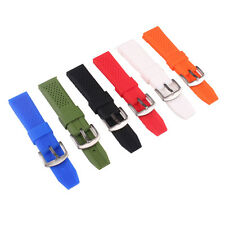 New Silicone Rubber 16mm 18mm 20mm 22mm 24mm Buckle Watch Wristwatch bands strap