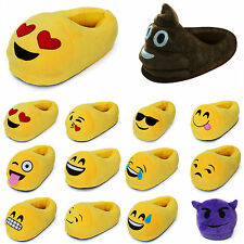 Fashion Emoji Expression Unisex Stuffed Slippers Winter Home Indoor Plush Shoes