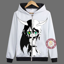 Anime Bleach Ulquiorra Zipper Jacket Cosplay Hoodie Unisex Coat#VH-1-73