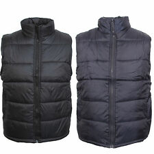 Mens Black Navy Padded Lined Quilted Gilet Sleeveless Coat Body warmer Jacket