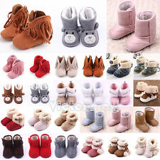 Infant Baby Boys Girls Toddler Boots Soft Sole Anti-Slip Prewalker Shoes 0-18M