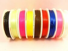 1 Spool x Stretch ELASTIC 1mm Magic BEADING String Thread CORD ~ Pick Color ~