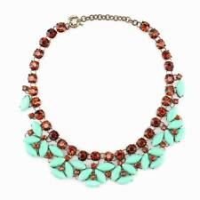 chain elegant crystal pendant resin statement beautiful girl necklace jewelry