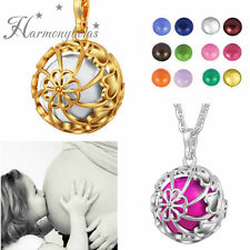 Lucky Wheel Belly Bell Pendant Harmony Ball Cage Necklace Pregnancy Mexican Bola