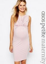 ASOS Maternity PETITE and TALL Twist Knot Front Sleeveless Bodycon Dress RRP£20