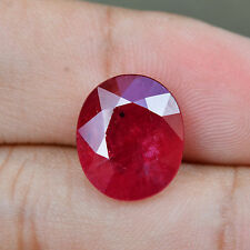 Certified 6.27ct 100%Natural Collection Twinkling Oval Rich Red Ruby Mozambique