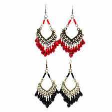 Multicolor Fashion Bohemia Bead Hollow Out Women Dangle Drop Earrings Jewelry HR
