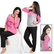 Ladies Womens I D RATHER BE SLEEPING Pyjamas pj Set Long Sleeve Nightwear 3 Pcs