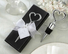 48 Silver Open Heart Wine Bottle Stoppers Wedding Bridal Shower Favors