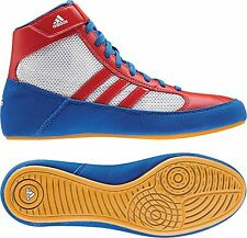 Adidas HVC 2 Adult Mens Wrestling Shoes AQ3324 Red/White/Blue US Mens Shoe Sizes
