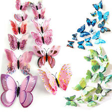12pcs Set Colorful Butterfly Decal Art Wall Stickers Room Decorations Home Decor